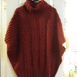 Coldwater Creek Cowl Neck Sweater Poncho